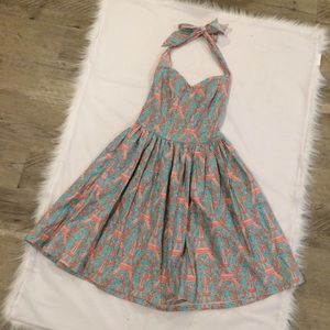 Bernie Dexter | Eiffel Tower Print Halter Dress
